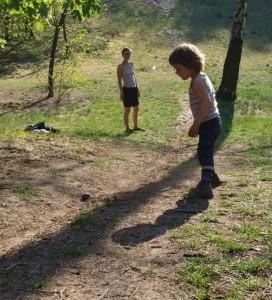Eier trudeln in Milow